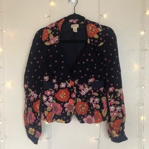 Floral corduroy Elevenses jacket by Anthropologie